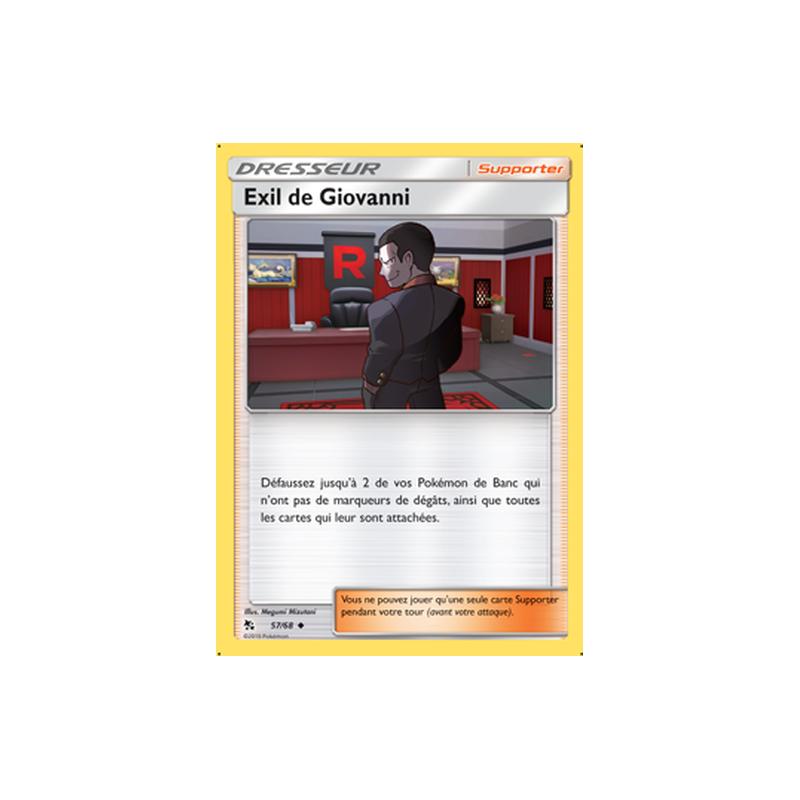 Exil de Giovanni 57/68 Carte Dresseur peu commune VF