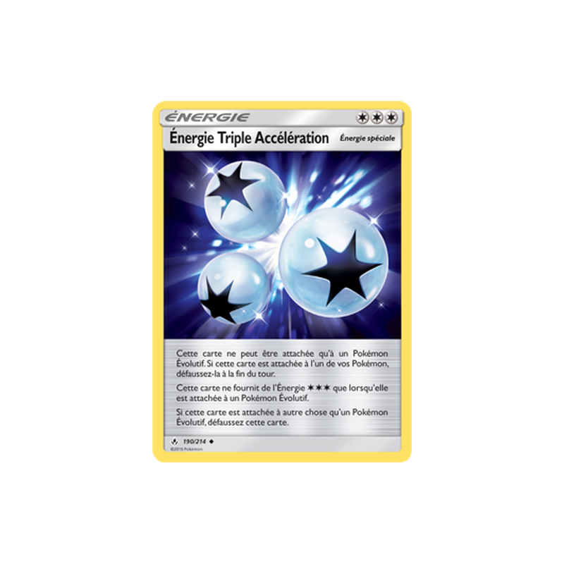 Énergie Triple Accélération 190/214 Carte Pokémon™ Energie Neuve VF