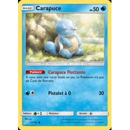 Carapuce 22/181 PV50 Carte...