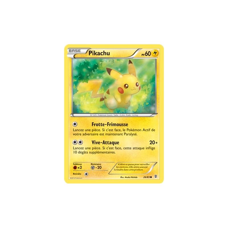 Pikachu 26/83 PV60 Carte commune neuve VF
