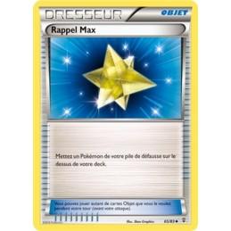 Rappel Max 65/83  Carte...