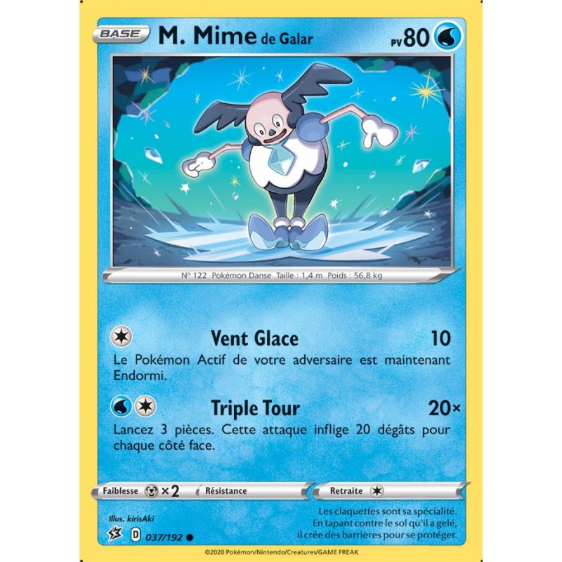 M. Mime de Galar 37/192 PV80 Carte commune Neuve VF