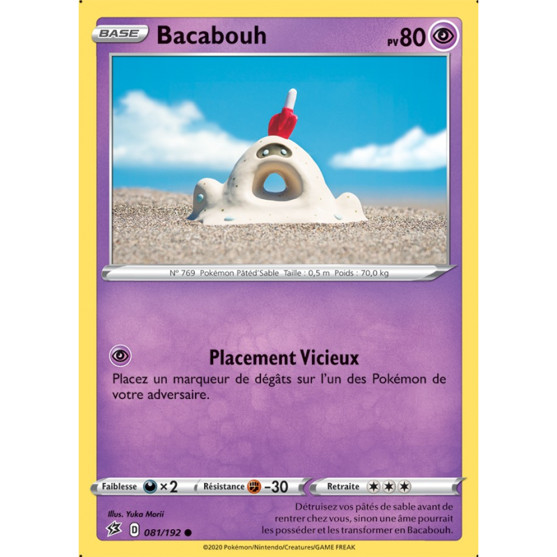 Bacabouh 81/192 PV80 Carte commune Neuve VF