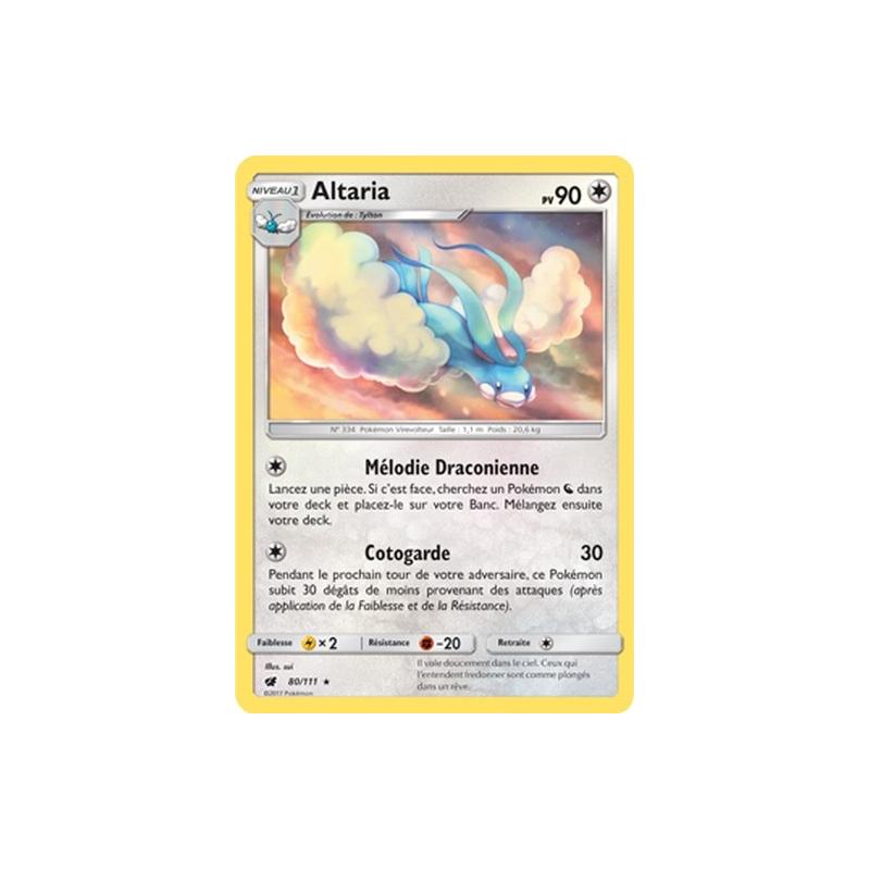 Altaria 80/111 PV90 Carte rare Neuve VF