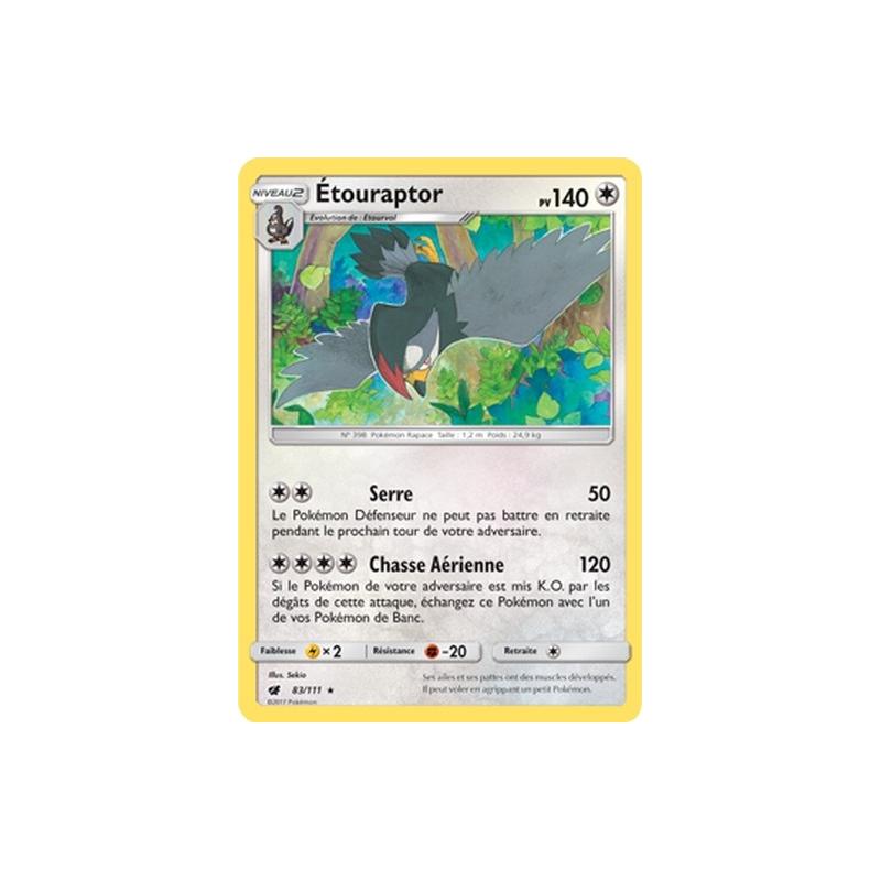Etouraptor 83/111 PV140 Carte rare Neuve VF