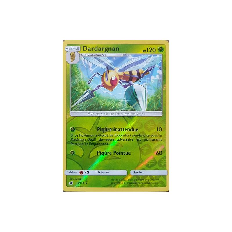 Dardargnan 3/111 PV120 Carte rare reverse Neuve VF