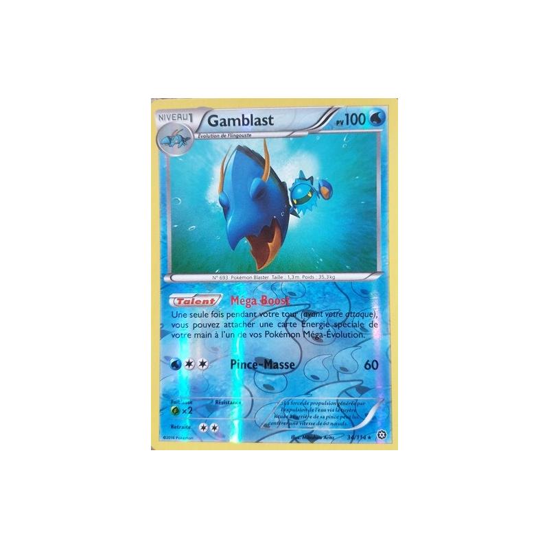 Gamblast 34/114 PV100 Carte rare reverse VF