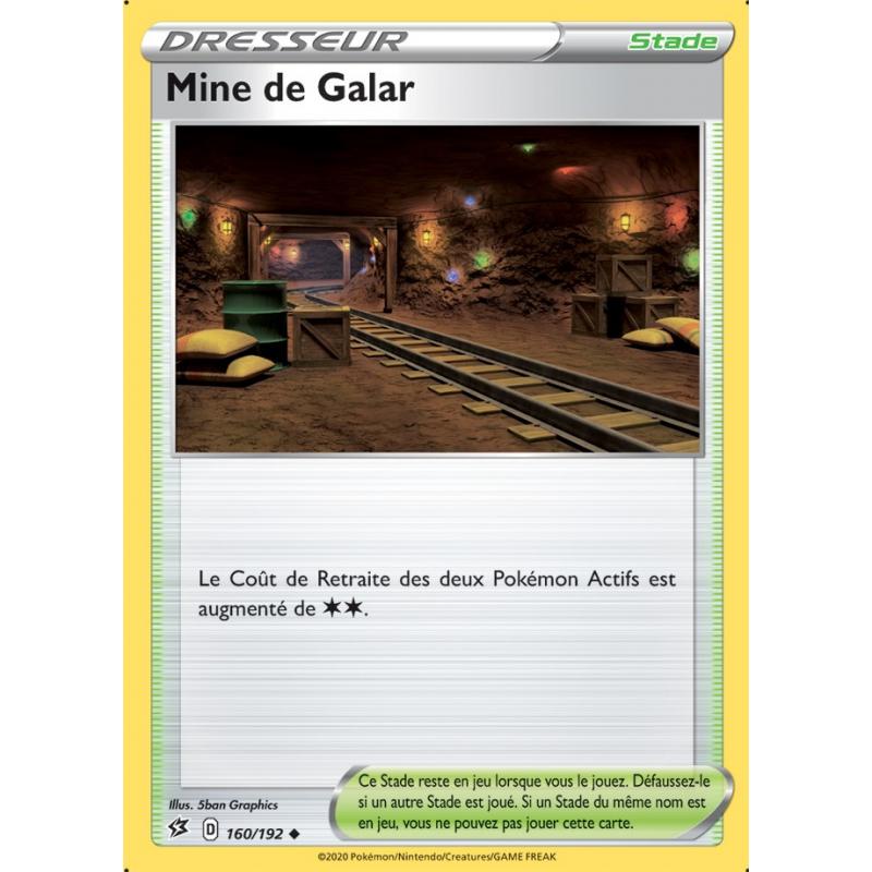 Mine de Galar 160/192 Carte Dresseur peu commune Neuve VF