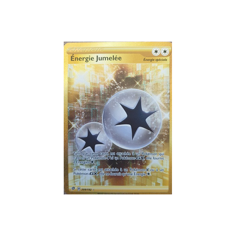 Energie Jumelée 209/192 Carte Dresseur Secrète Neuve VF