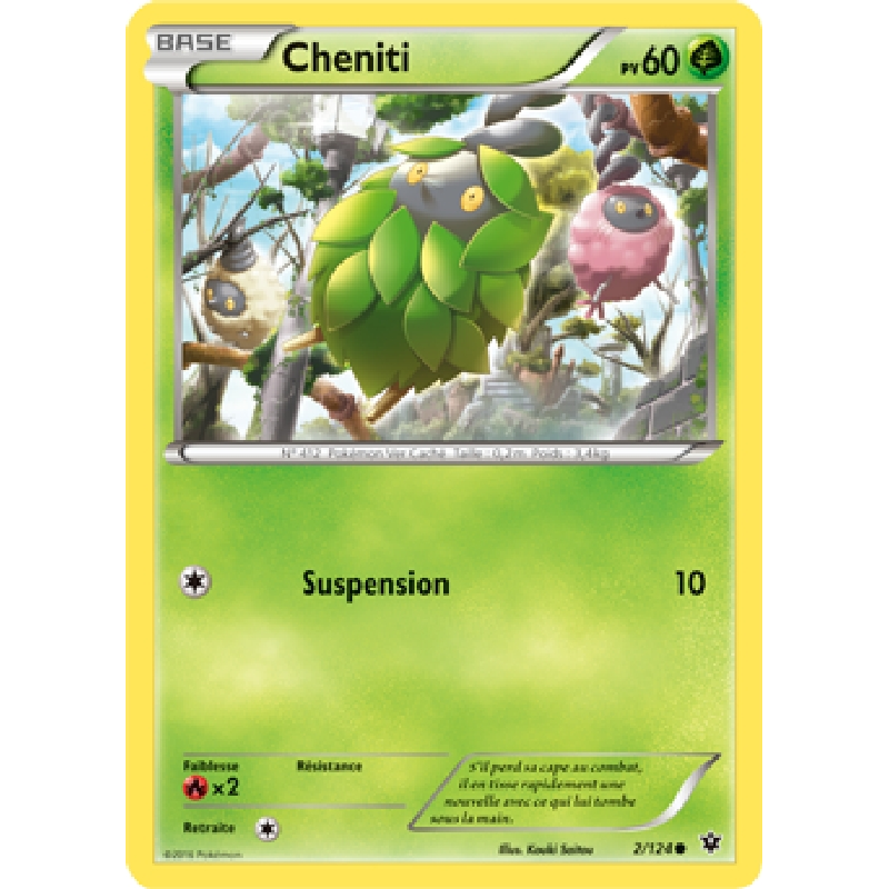 Cheniti 2/124 Carte Pokémon™ commune neuve VF