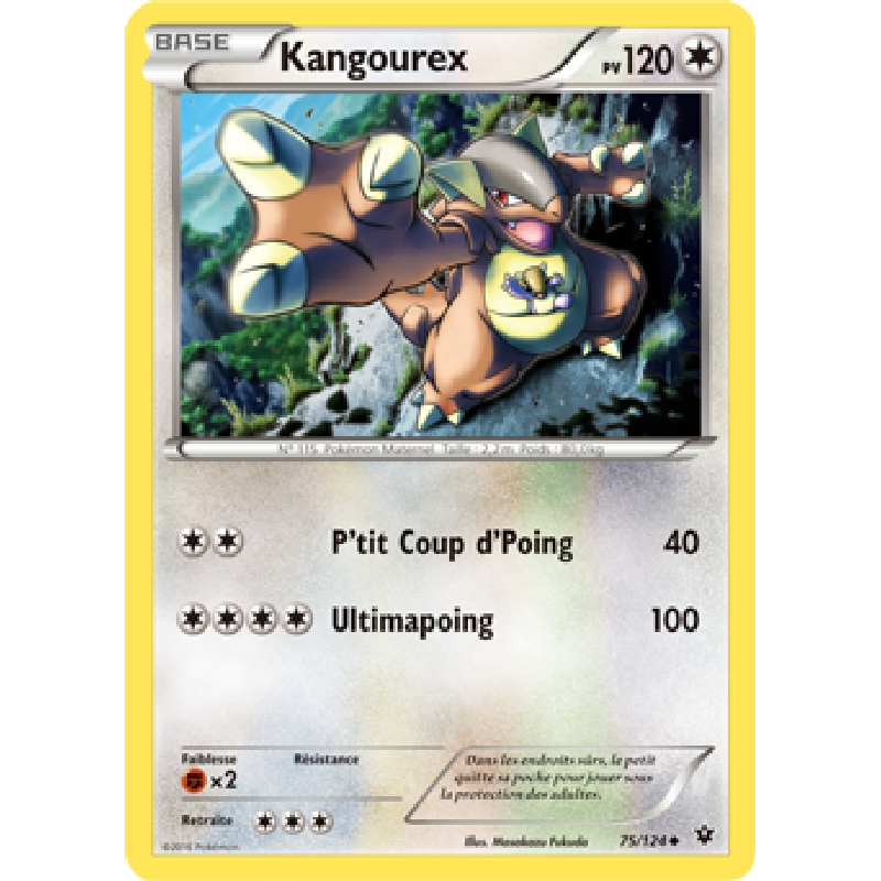 Kangourex 75/124 PV120 Carte Pokémon™ Peu Commune neuve VF
