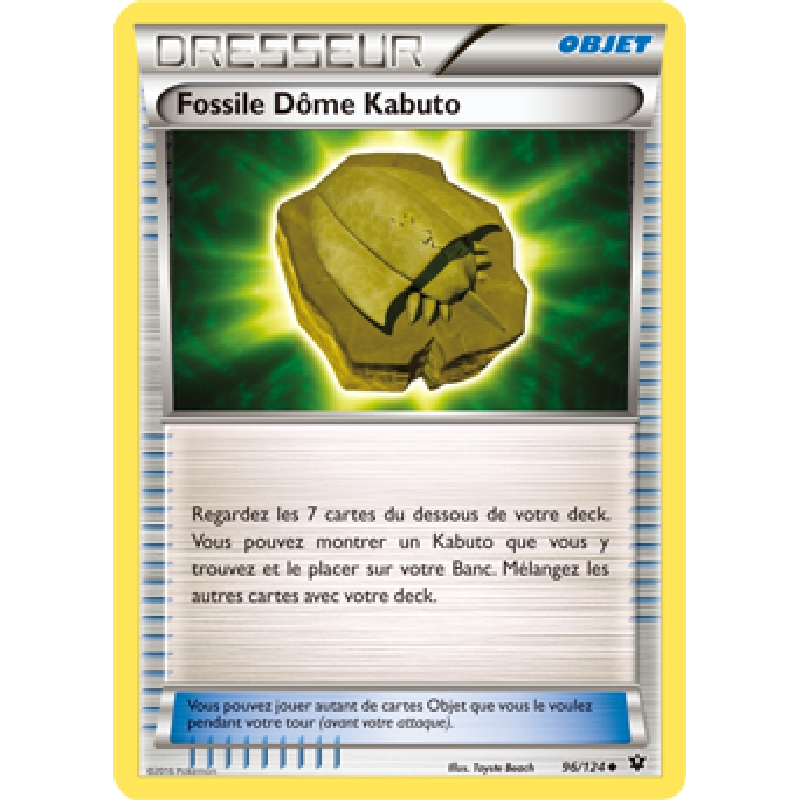 Fossile Dôme Kabuto 96/124 Carte Pokémon™ dresseur neuve VF