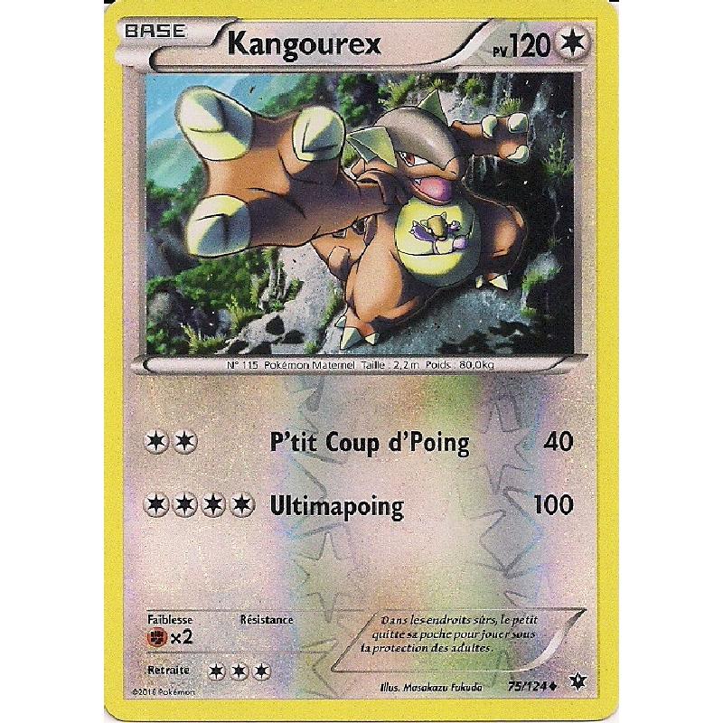 Kangourex 75/124 PV120 Carte Pokémon™ Reverse Peu Commune neuve VF