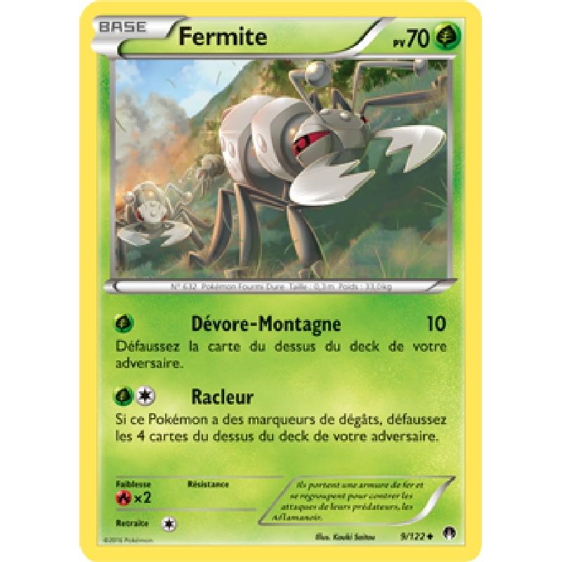 Fermite 9/122 PV70 Carte Pokémon™ peu commune neuve VF