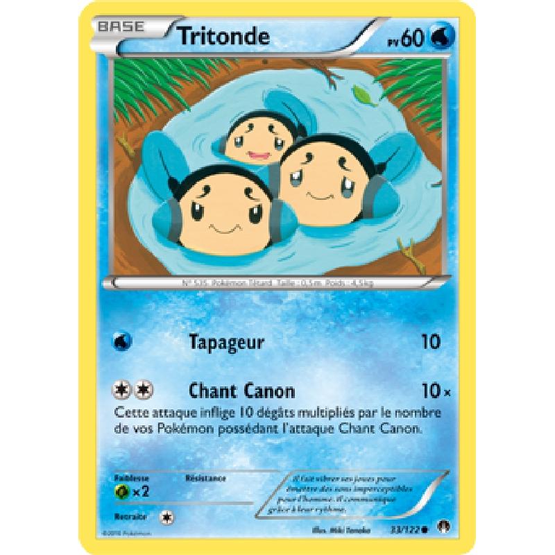 Tritonde 33/122 PV60 Carte Pokémon™ commune neuve VF