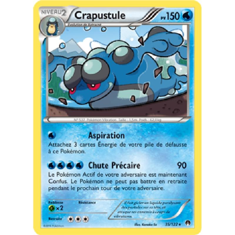 Crapustule 35/122 PV150 Carte Pokémon™ Rare neuve VF