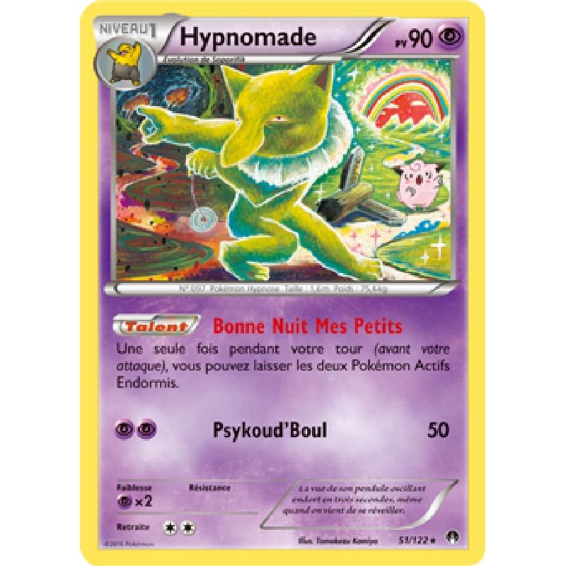 Hypnomade 51/122 PV90 Carte Pokémon™ rare neuve VF
