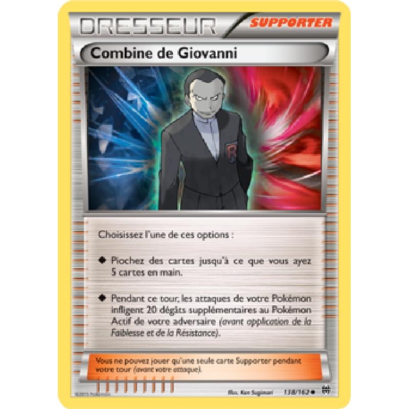 Combine de Giovanni 138/162 Carte Pokémon™ Dresseur neuve VF