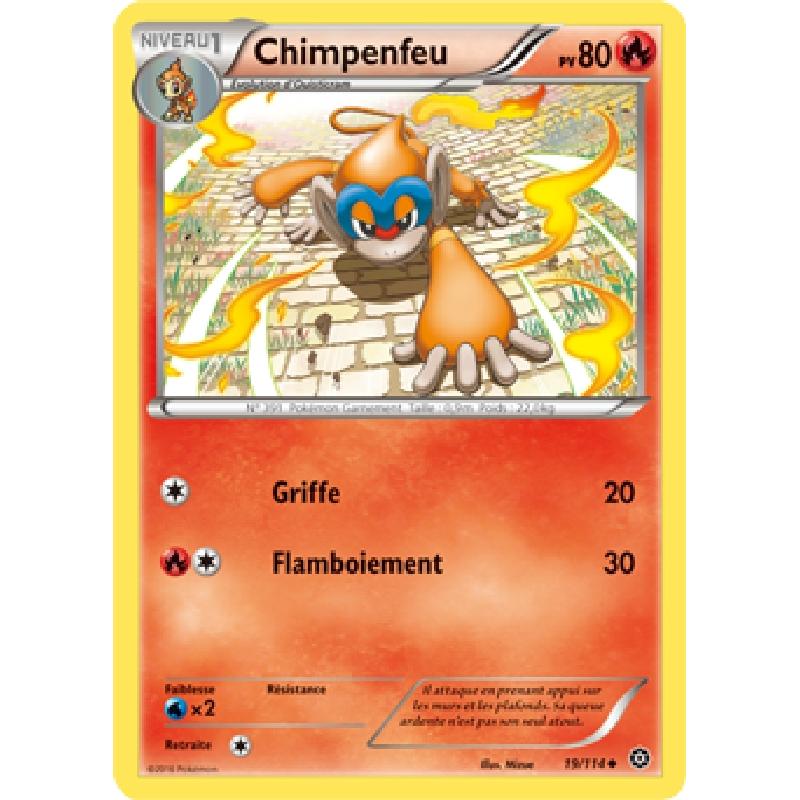 Chimpenfeu 19/114 PV80 Carte Pokémon™ peu commune neuve VF