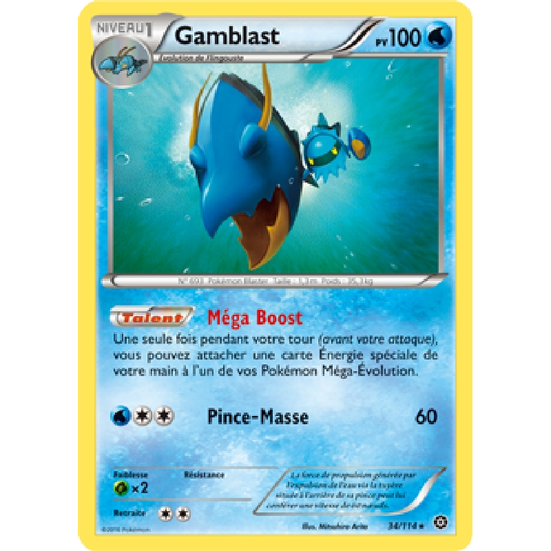 Gamblast 34/114 PV100 Carte Pokémon™ rare neuve VF