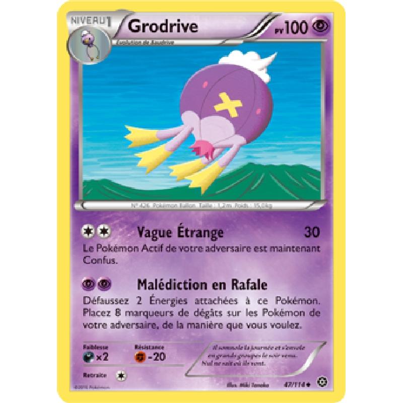 Grodrive 47/114 PV100 Carte Pokémon™ peu commune neuve VF