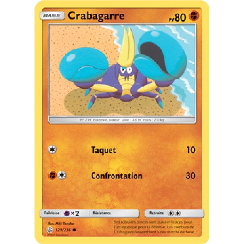 Crabagarre 121/236 PV80 Carte Pokémon™ commune neuve VF