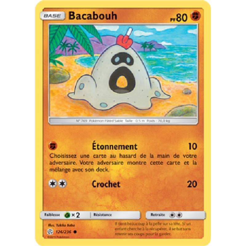 Bacabouh 126/236 PV80 Carte Pokémon™ commune neuve VF