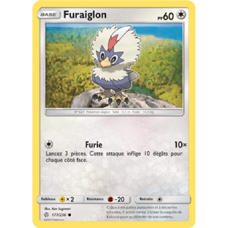 Furaiglon 177/236 PV60 Carte Pokémon™ commune VF