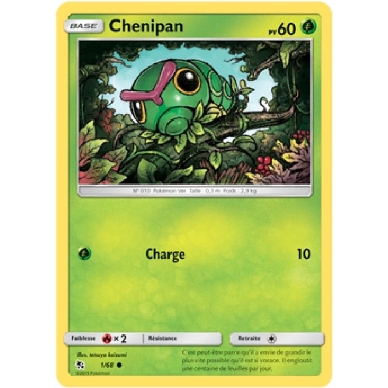 Chenipan 1/68 PV60 Carte Pokémon™ commune VF