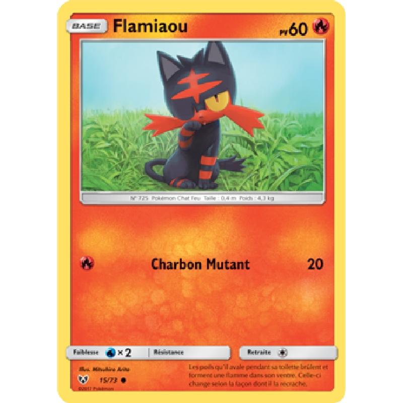 Flamiaou 15/73 PV60 Carte Pokémon™ commune Neuve VF