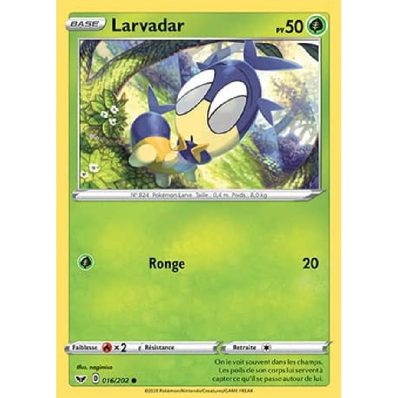 Larvadar 16/202 PV50 Carte Pokémon™ commune Neuve VF