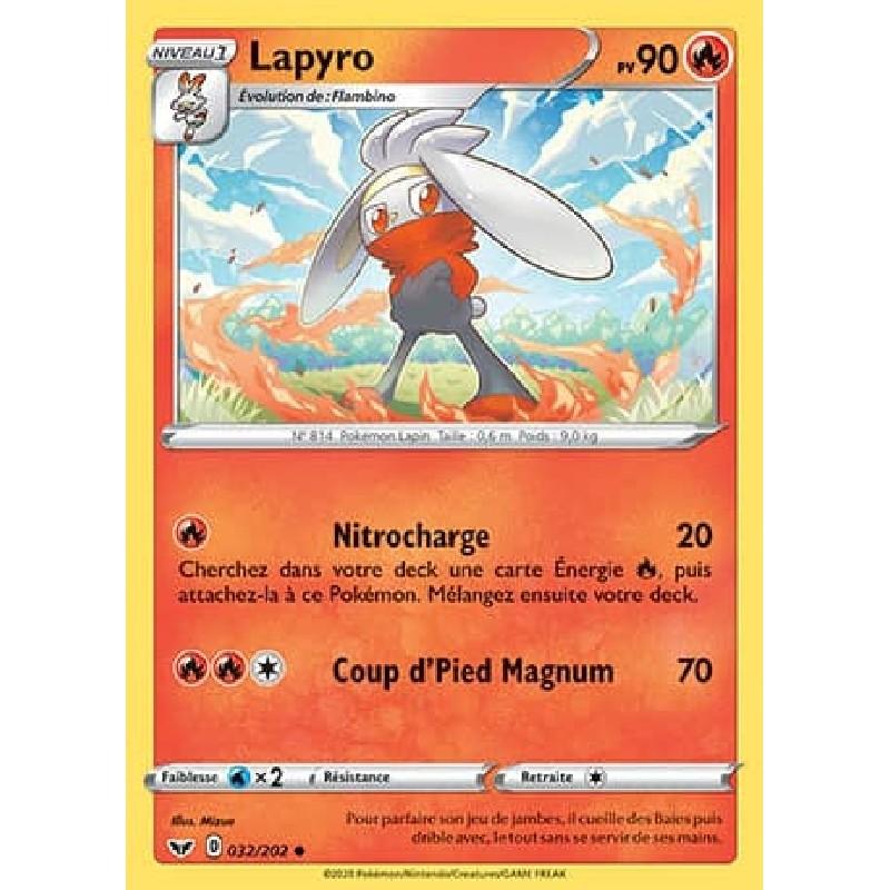 Lapyro 32/202 PV90 Carte Pokémon™ peu commune Neuve VF