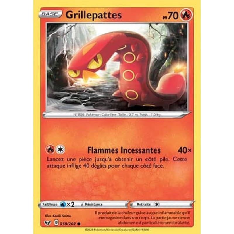 Grillepattes 38/202 PV70 Carte Pokémon™ commune Neuve VF