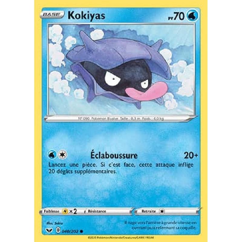Kokiyas 40/202 PV70 Carte Pokémon™ commune Neuve VF