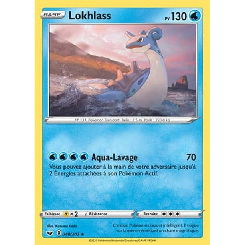 Lokhlass 48/202 PV130 Carte Pokémon™ rare Neuve VF