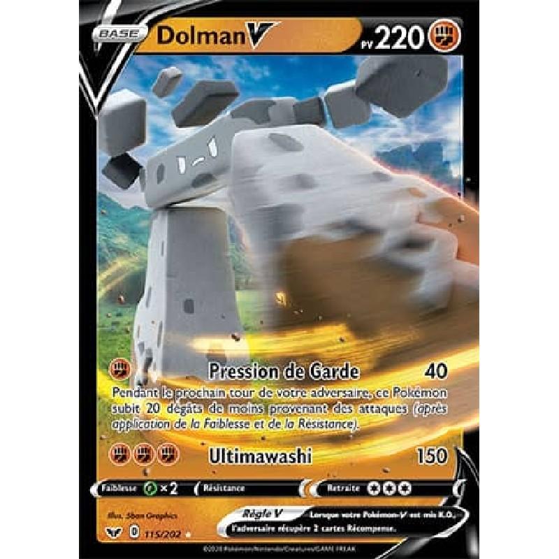 Dolman V 115/202 PV220 Carte Pokémon™ V Ultra rare Holo Full Art Neuve VF