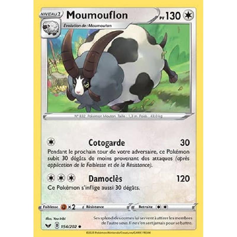 Moumouflon 154/202 PV130 Carte Pokémon™ peu commune Neuve VF