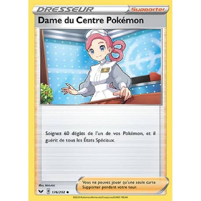 Dame du Centre Pokémon 176/202 Carte Pokémon™ Dresseur Neuve VF