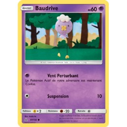 Baudrive 51/156 PV60 Carte Pokémon™ commune Neuve VF