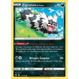 Zigzaton de Galar 117/202 PV70 Carte Pokémon™ commune Neuve VF