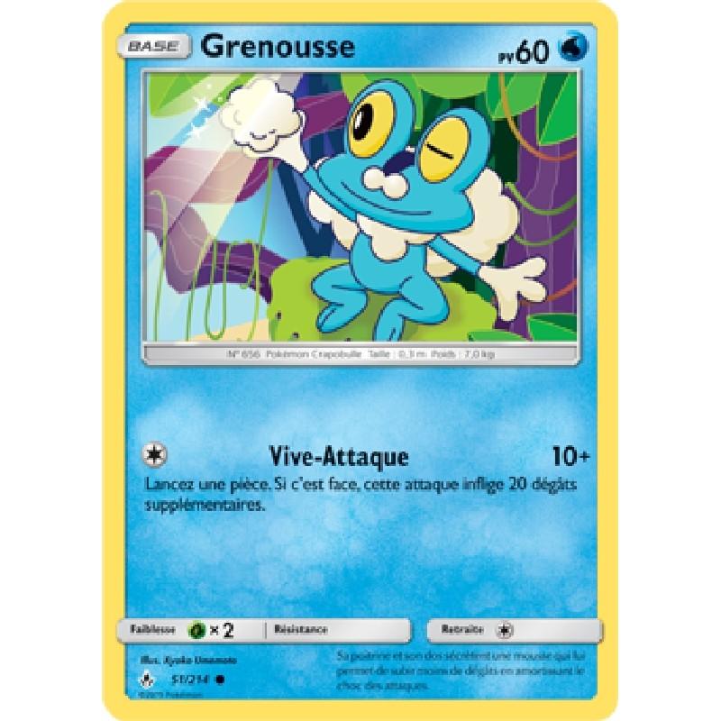 Grenousse 51/214 PV60 Carte Pokémon™ commune Neuve VF