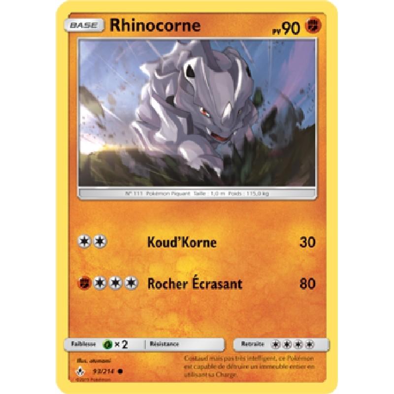 Rhinocorne 93/214 PV90 Carte Pokémon™ commune Neuve VF