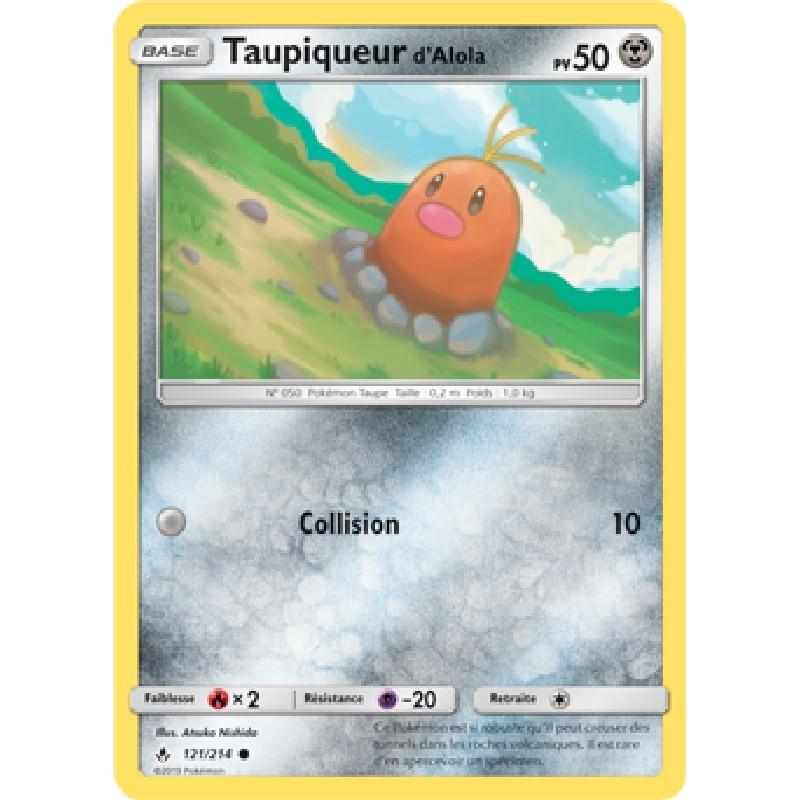 Taupiqueur d'Alola 121/214 PV50 Carte Pokémon™ commune Neuve VF