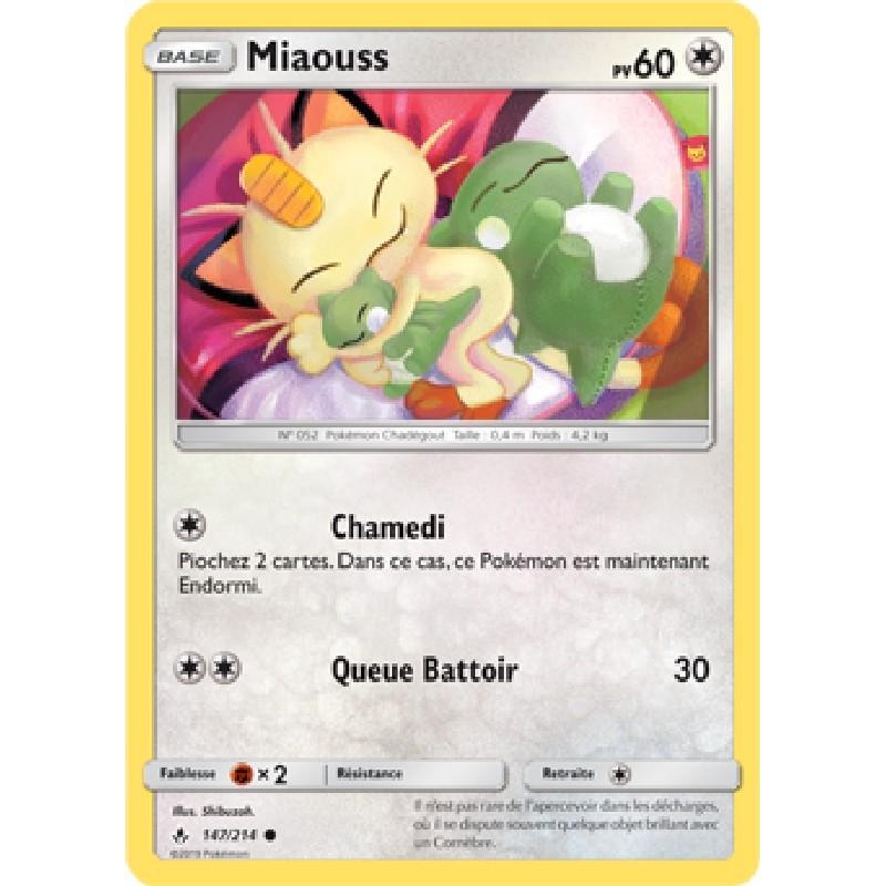 Miaouss 147/214 PV60 Carte Pokémon™ commune Neuve VF