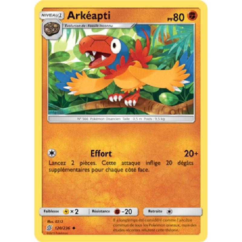 Arkéapti 120/236 PV80 Carte Pokémon™ peu commune Neuve VF