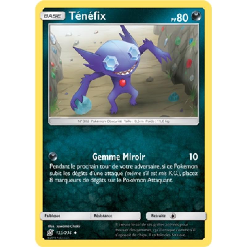 Ténéfix 133/236 PV80 Carte Pokémon™ peu commune Neuve VF