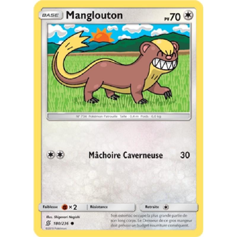 Manglouton 180/236 PV70 Carte Pokémon™ commune Neuve VF