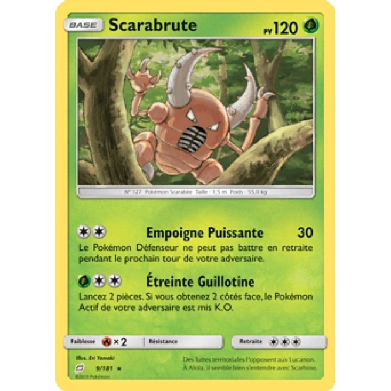 Scarabrute 9/181 PV120 Carte Pokémon™ rare Neuve VF