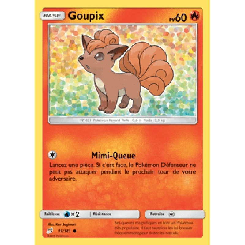 Goupix 15/181 PV60 Carte Pokémon™ commune Neuve VF
