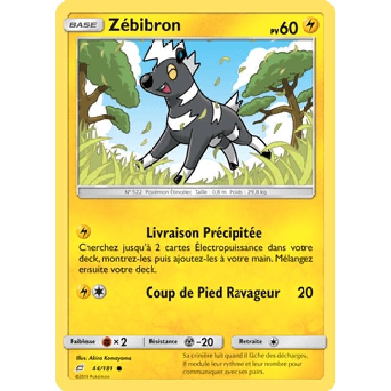 Zébibron 44/181 PV60 Carte Pokémon™ commune Neuve VF